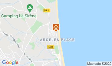 Karte Argeles sur Mer Appartement 93461