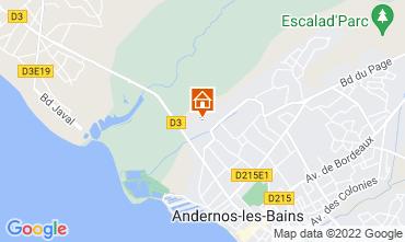 Karte Andernos les Bains Ferienunterkunft auf dem Land 81528