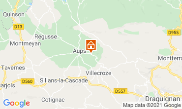 Karte Cotignac Villa 95613