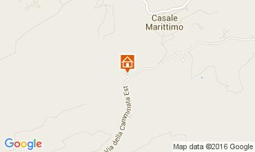 Karte Casale Marittimo Appartement 104952