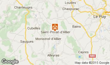 Karte Le Puy en Velay Ferienunterkunft auf dem Land 94493