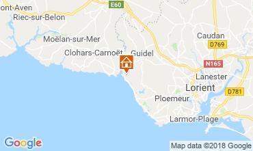 Karte Guidel - Guidel Plage Ferienunterkunft auf dem Land 76206