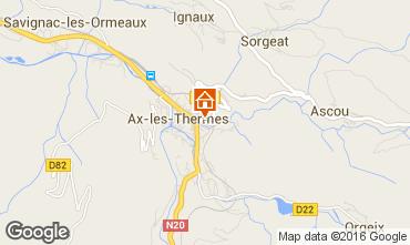 Karte Ax Les Thermes Appartement 102258