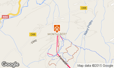 Karte La Plagne Chalet 27113