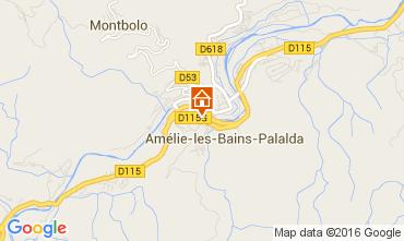 Karte Amélie-Les-Bains Appartement 103544