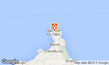 Karte San Vito lo Capo Appartement 83160