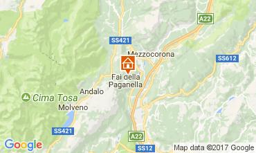 Karte Andalo - Fai della Paganella Appartement 104639