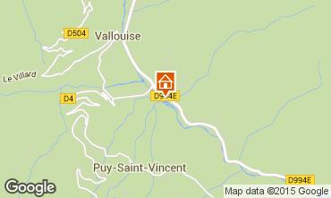 Karte Puy Saint Vincent Chalet 94407