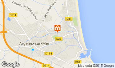 Karte Argeles sur Mer Appartement 69387