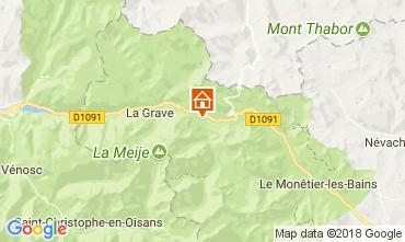 Karte Villar-d'Arêne Chalet 113346