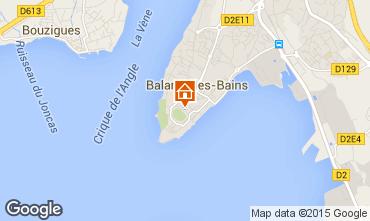 Karte Balaruc les Bains Appartement 38789