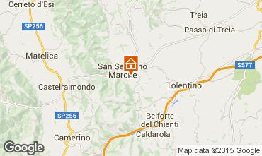 Karte San Severino Marche Appartement 72984