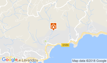 Karte Le Lavandou Villa 98753