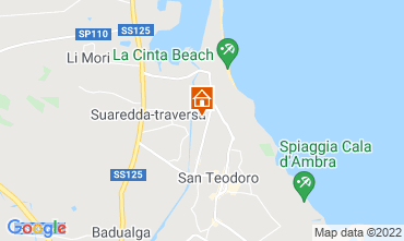 Karte San Teodoro Appartement 96897