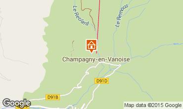 Karte Champagny en Vanoise Appartement 579