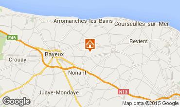 Karte Bayeux Ferienunterkunft auf dem Land 78404