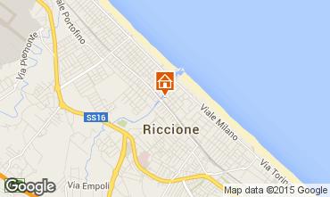 Karte Riccione Appartement 17943