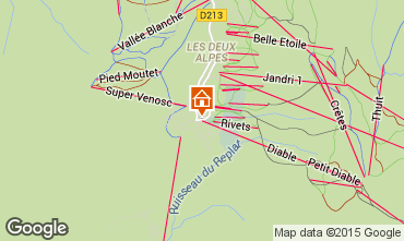 Karte Les 2 Alpes Studio 1258