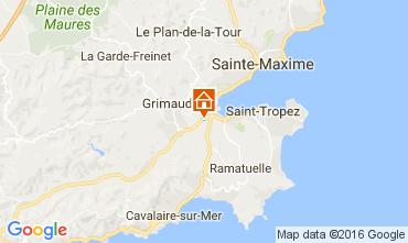 Karte Saint Tropez Villa 107223
