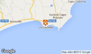 Karte Le Castella Appartement 24518