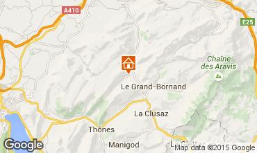 Karte La Clusaz Chalet 72056