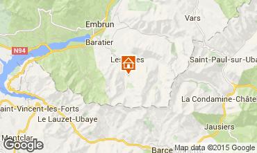 Karte Les Orres Studio 2090