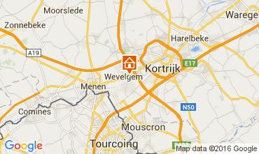 Karte Kortrijk Ferienunterkunft auf dem Land 80282