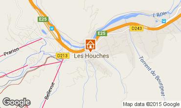 Karte Les Houches Appartement 101211