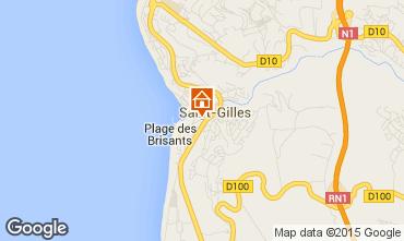Karte Saint Gilles Studio 97488