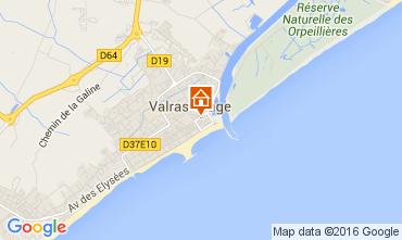Karte Valras-Plage Mobil-Home 105631