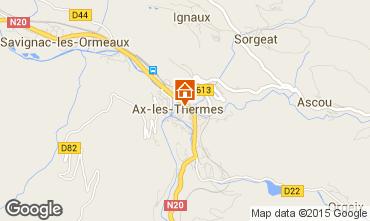Karte Ax Les Thermes Appartement 92454
