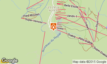 Karte Les 2 Alpes Chalet 60919