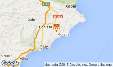 Karte Moraira Villa 87365