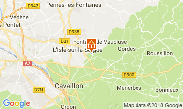 Karte Isle sur la Sorgue Ferienunterkunft auf dem Land 113715