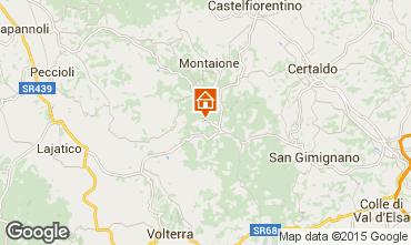 Karte Gambassi Terme Appartement 58105
