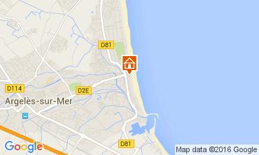 Karte Argeles sur Mer Appartement 90090