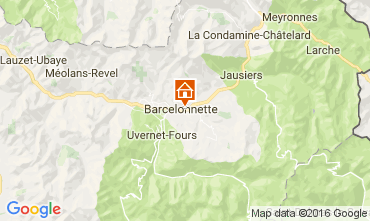 Karte Barcelonnette Appartement 4863
