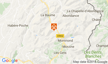Karte Saint Jean d'Aulps- La Grande Terche Appartement 57386