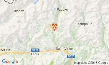 Karte Antey Saint Andr� Appartement 76200