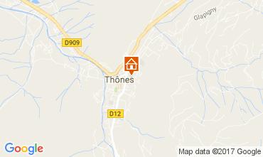 Karte Les Villards-sur-Thônes Appartement 109078