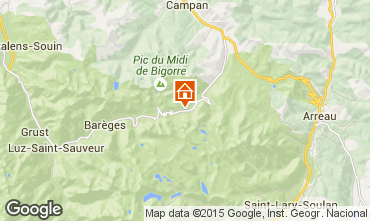 Karte La Mongie Appartement 90809