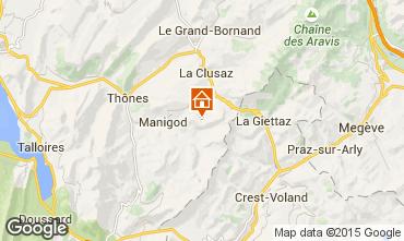 Karte Manigod-Croix Fry/L'étale-Merdassier Appartement 17198