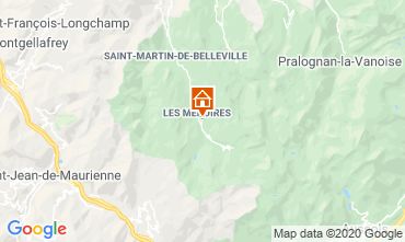 Karte Les Menuires Studio 15243
