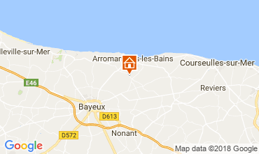 Karte Arromanches Ferienunterkunft auf dem Land 102250