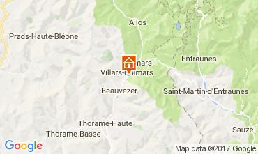 Karte Val d'Allos Chalet 3208