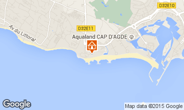 Karte Cap d'Agde Appartement 93876