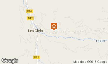 Karte Manigod-Croix Fry/L'étale-Merdassier Chalet 27781