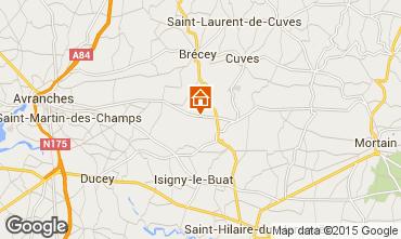 Karte Mont Saint Michel Ferienunterkunft auf dem Land 68684