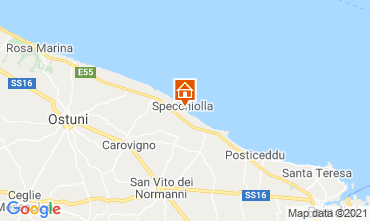 Karte Ostuni Villa 95250