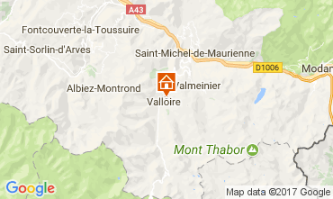 Karte Valloire Appartement 3411